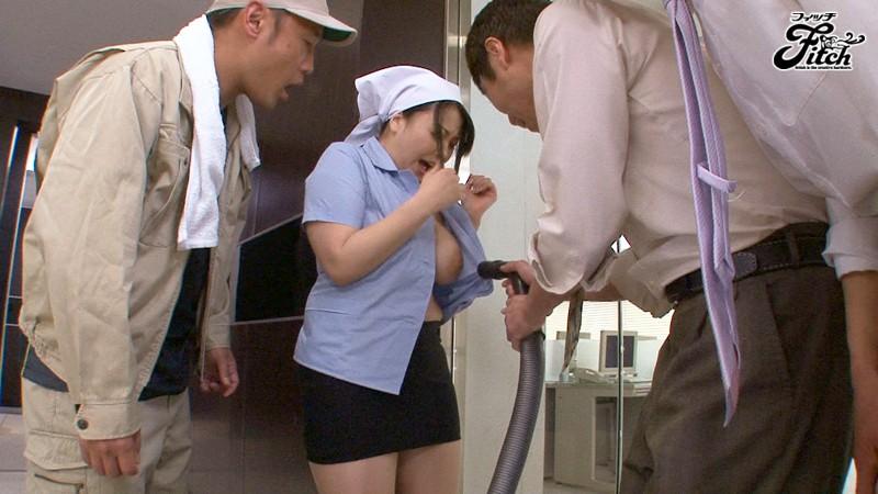 断りきれないノーブラ肉感清掃員 寺島志保 の画像10