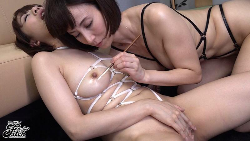 接吻乳首責めレズビアン ~敏腕女社長の卑猥なレズキスニップル調教~ 梨々花 澤村レイコ の画像9