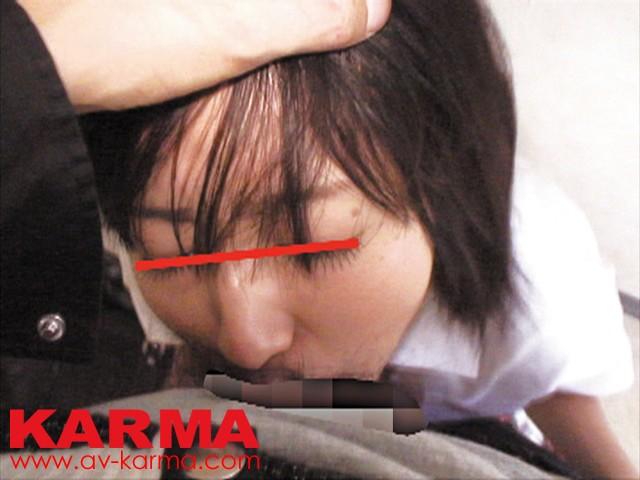 女子中○生のまだあどけない口を犯すイラマチオレイプ の画像1