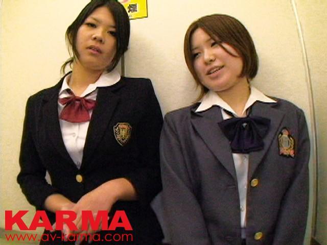 非現実的妄想劇場 アナタの願望叶えます! もしも…こ~んなカワイイ制服美少女2人組みにWフェラチオしてもらったら?