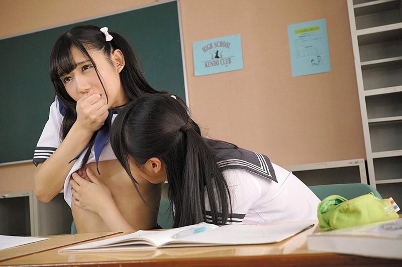 いいなりッ子とプチSの女子●生 学校こっそりレズえっち 星奈あい 愛里るい の画像8