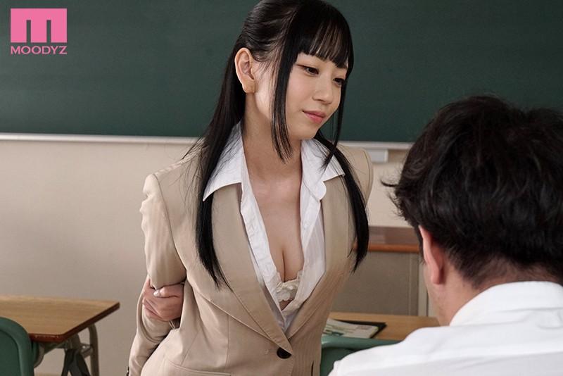 おチ○ポ挑発練習中!! 誘惑新任女教師 七沢みあ-10