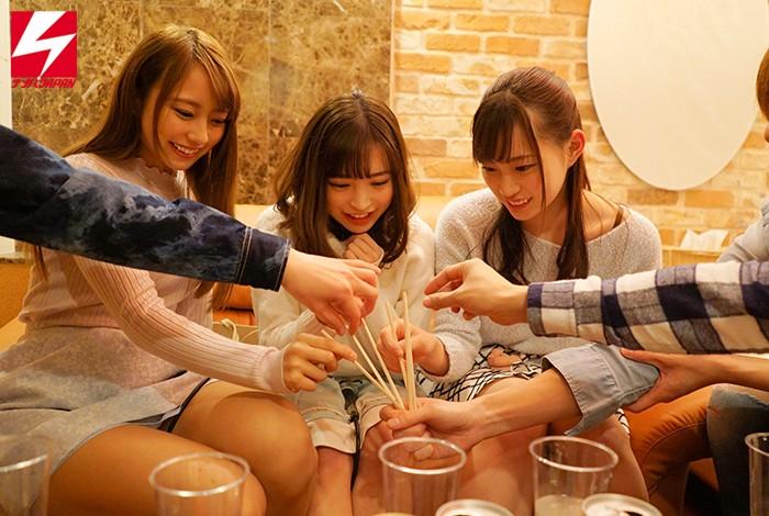 女子大生限定! 新勧帰りの女子大生3人組をラブホに連れ込みエッチなほろ酔い王様ゲーム 画像10枚