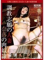 「調教志願の人妻 奈落の肉奴隷 長田恵」のパッケージ画像
