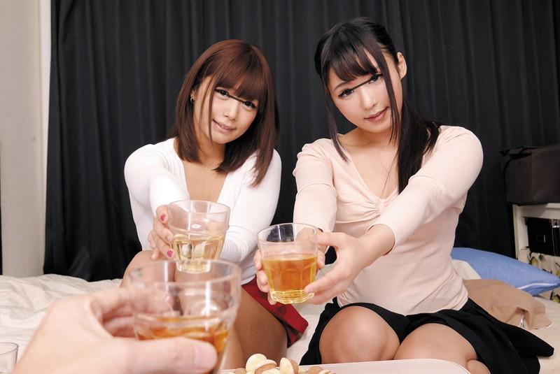 【エロVR】美女2人と宅飲み→理性を失い性欲ムキ出して夢のハーレムセックス
