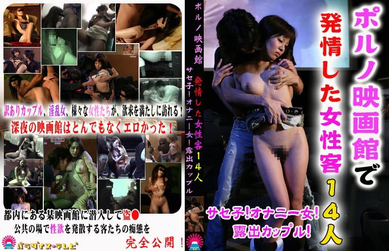ポルノ映画館で発情した女性客14人〜サセ子!オナニー女!露出カップル!