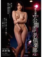 「美人妻公開調教倶楽部 西野翔」のパッケージ画像