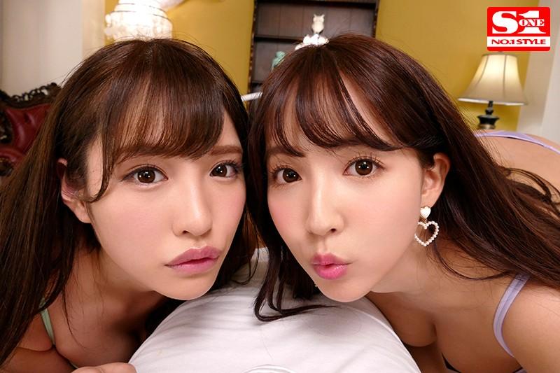 【VR】エスワン15周年スペシャル共演 日本一のAV女優2人と超豪華ハーレム逆3P体験-3