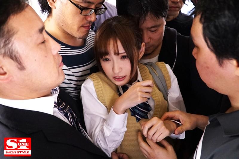 女子校生 強・制・連・結 満員痴漢車両 天使もえ の画像6