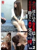 ナンパ連れ込みSEX隠し撮り・そのまま勝手にAV発売。する鬼畜な年下くん Vol.2