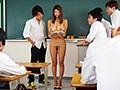 新米教師のわたしは、オッパイが大きいせいか思春期の生徒たちのオモチャにされ皆がいる前で全裸授業をさせられています。 深田ナナ 2