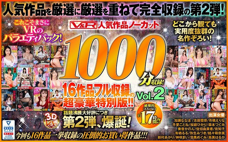 【VR】V&R 人気作品ノーカット1000分収録!16作品フル収録の超豪華特別版!!Vol.2 パッケージ画像