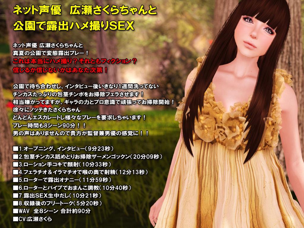[同人]「ネット声優広瀬さくらちゃんと公園で露出ハメ撮りSEX」(3DGIRL,s)
