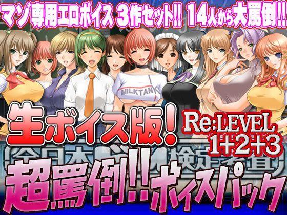 【生ボイス版!】全日本ドM検定考査 Re: LEVEL 1+2+3セット 超罵倒!!ボイスパックの表紙