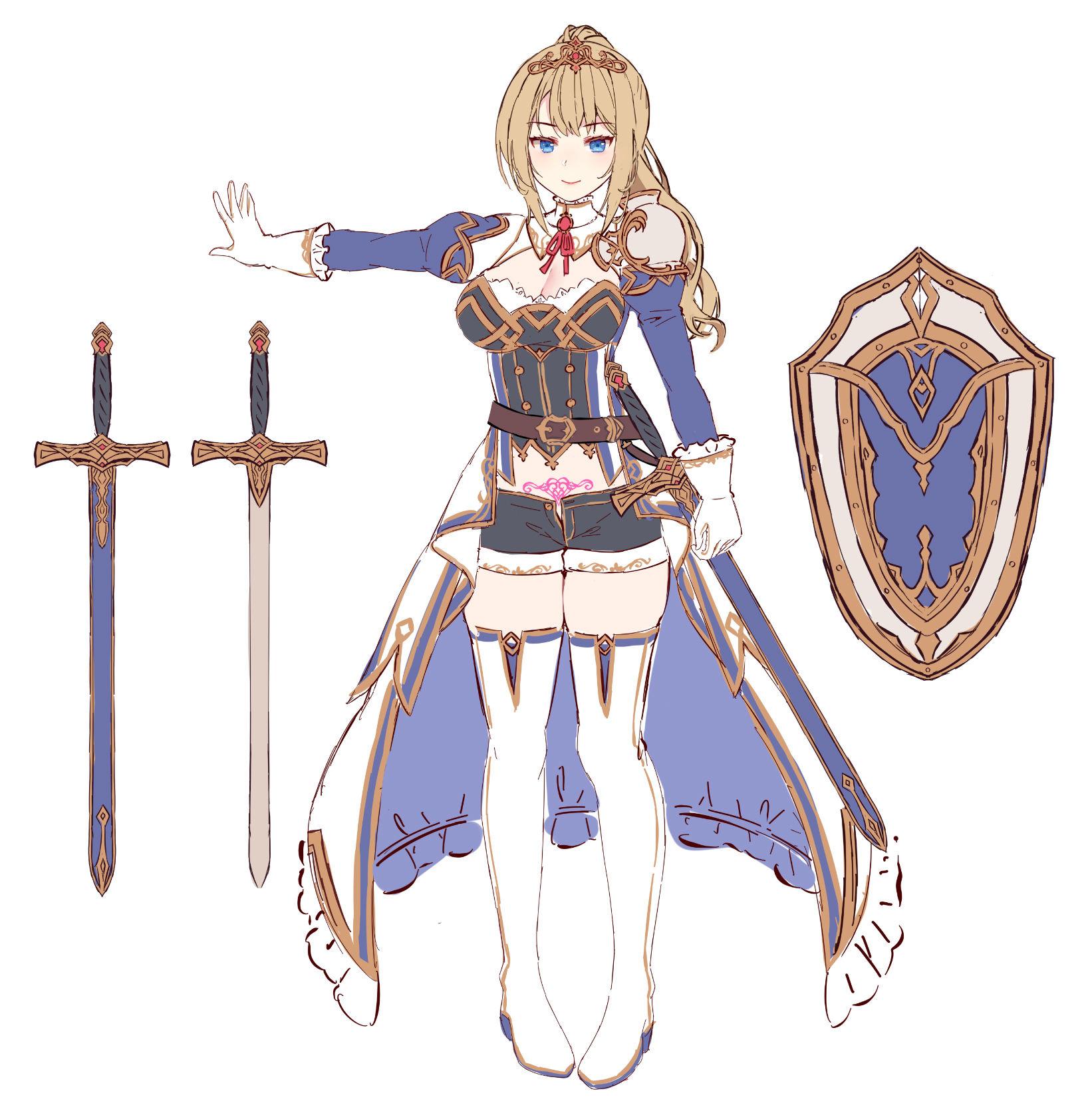 【姫騎士×淫語特化】盾持ち姫騎士の護衛搾精 過剰守られ 生オナホ奉仕任務 エロプレイ画像