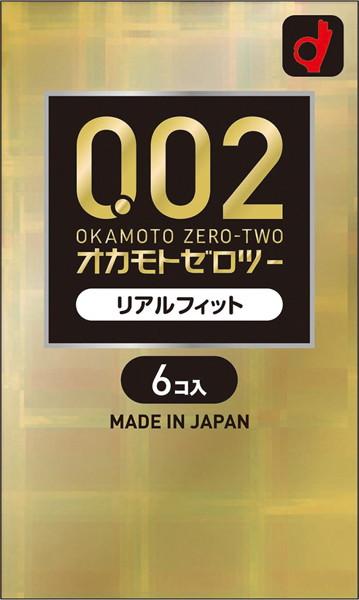オカモト ゼロツー 0.02 リアルフィット 6個入り