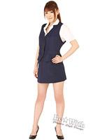 密室秘書(Lサイズ) シースルーピンクのブラウスのセレクタリー制服