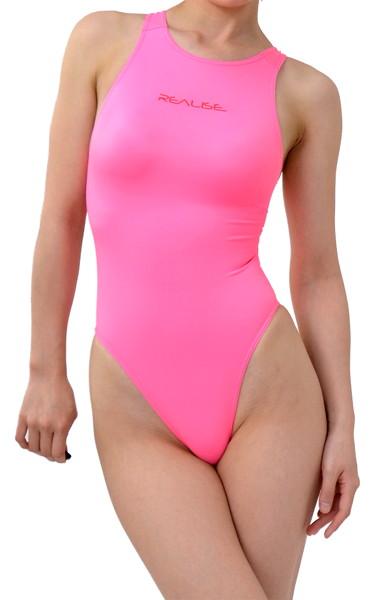 極薄競泳水着ノーマルバック【オリジナルSSW素材】Lサイズ・蛍光ピンク