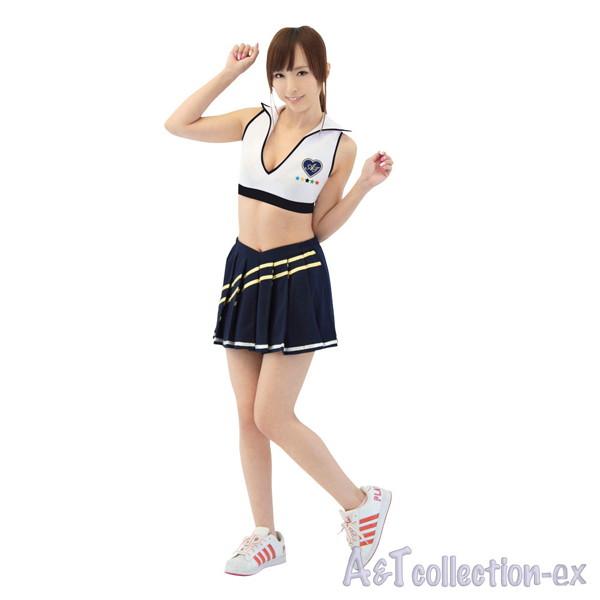 セパチアガール/紺×白☆襟ぐりの開いたセクシーチアリーダー
