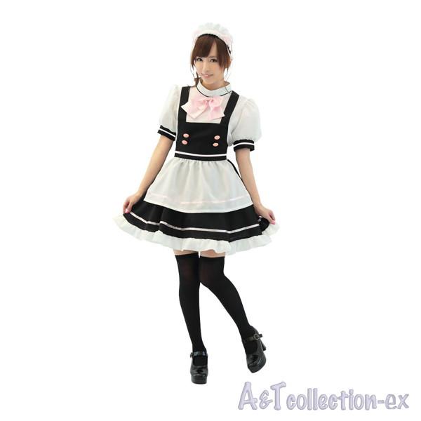 萌えカフェメイド/ピンクリボン×黒スカート