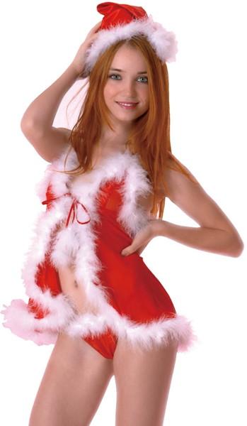 オープンキャミ&ショーツ クリスマスver