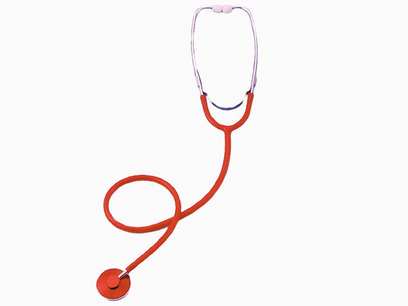 カラー聴診器 レッド
