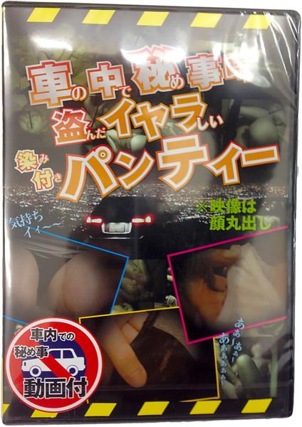 車の中で秘め事時に盗んだイヤらしい染み付きパンティー(DVD付)
