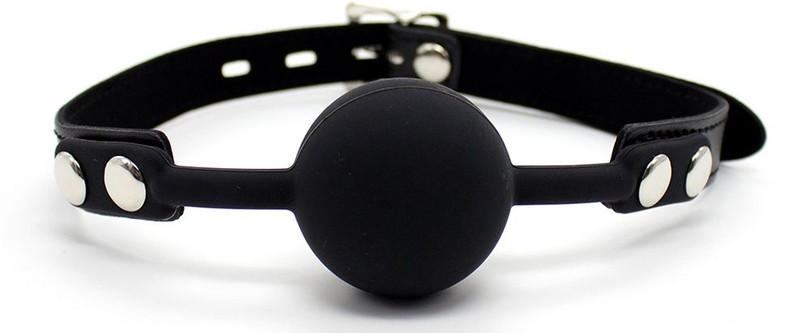 シリコン口枷 鍵付き 黒