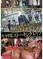 「日本人強○魔に狙われた金髪東欧美女生中出しストーキングレ○プ」のパッケージ画像