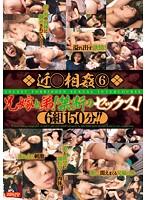 「近○相姦 6 兄嫁と弟! 禁断のセックス!6組150分!!」のパッケージ画像