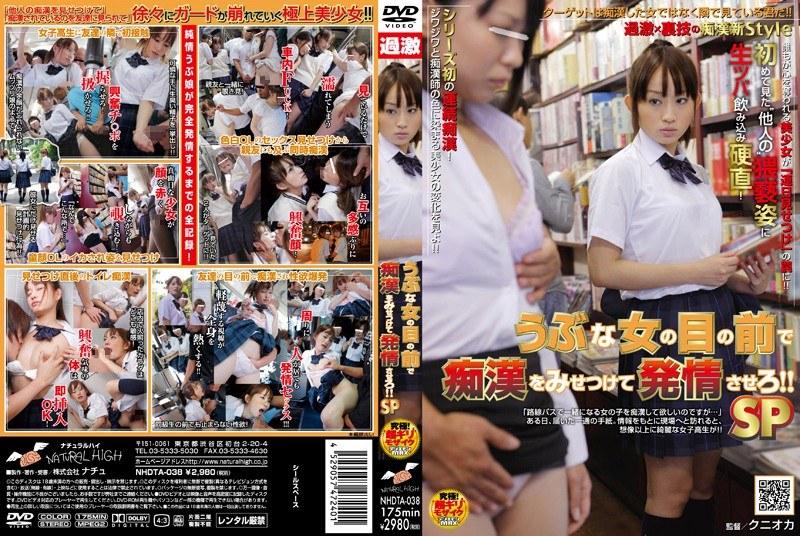 1nhdta038pl NHDTA 038 Mika Osawa   Chikan In Front Of Innocent School Girls