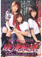 「破廉恥X 2 性処理玩具3人の淫乱女子校生」のパッケージ画像