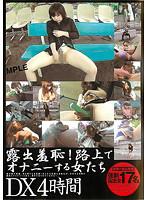 「露出羞恥!路上でオナニーする女たち DX」のパッケージ画像