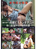 「公園で隠れて高速ピストンオナニー後に放尿する下品な女達 5人の自慰」のパッケージ画像