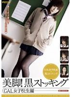 「美脚!黒ストッキング GAL女子校生編」のパッケージ画像