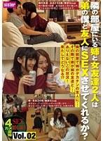 隣の部屋にいる姉と女友達2人は弟の僕と友人にSEXさせてくれるか? Vol.02 SIS-051画像