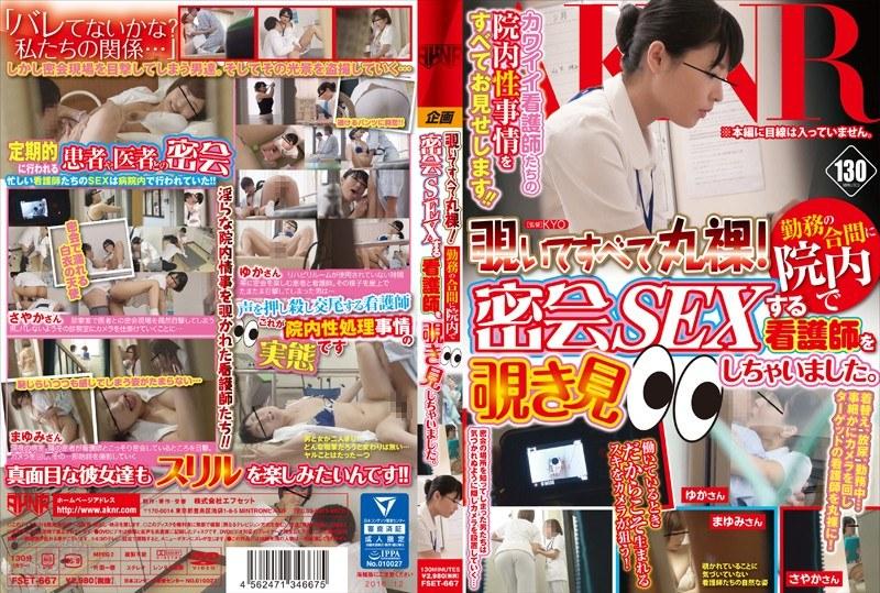 [FSET-667] 覗いてすべて丸裸!勤務の合間に院内で密会SEXする看護師を覗き見しちゃいました。
