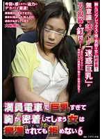 NHDTA-439 - 6 Not Kobame Woman Breast Resulting In Close Contact With It Too Busty Crowded Train Can Be Molester