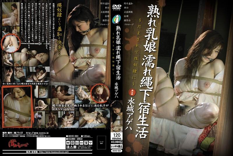 AKHO-064 熟れ乳娘 濡れ縄下宿生活 〜だまされて性奴隷に〜 水城アゲハ