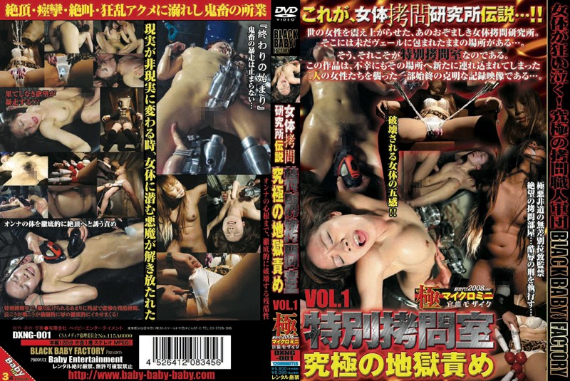 Baby Entertainment - DXNG-001 VOL.1 Special Torture Chamber Torture Booty Legend Institute - 2008