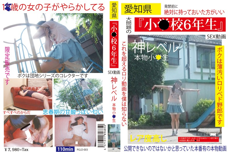 [PGLD-003] 愛知県「小○校6年生」SEX動画 神レベル 本物小○生 First Star