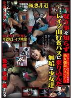 「インターネットで共犯者を募る●女強姦バスツアー 疑う事を知らずレイプ山行きバスに乗り込んだ無垢な少女達」のパッケージ画像
