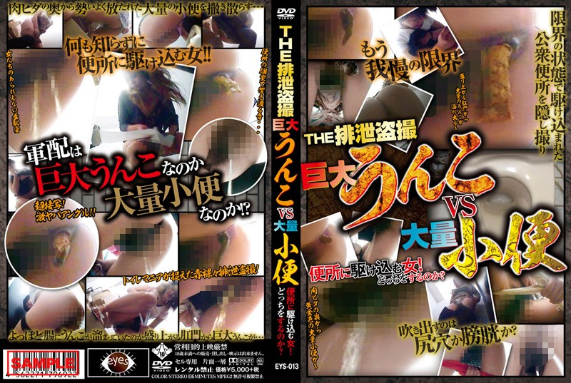 [EYS-013] THE排泄盗撮 巨大うんこvs大量小便 便所に駆け込む女!どっちをするのか?