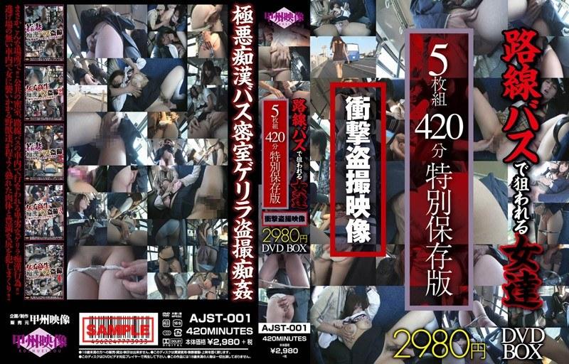 甲州映像 路線バスで狙われる女達衝撃盗撮映像 5枚組420分 特別保存版2980円DVDBOX