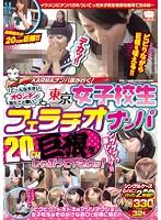 KARMAナンパ隊が行く!「こ〜んな大きいオ○ンチン見たこと無い…」東京女子校生フェラチオナンパ 20cm巨根をしゃぶって下さいッ!