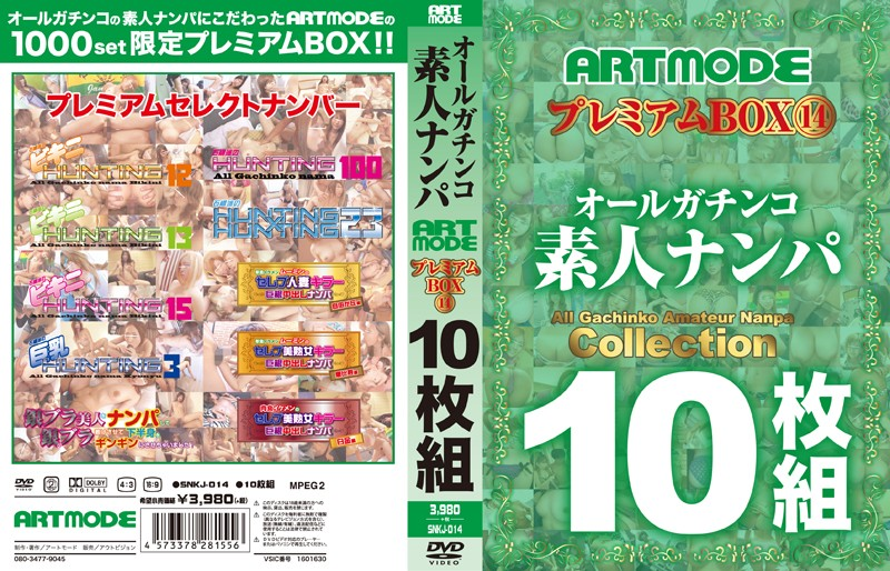 [SNKJ-014] オールガチンコ 素人ナンパ ARTMODE プレミアムBOX 14 10枚組 アートモード