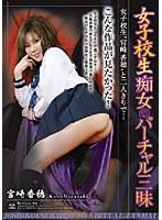 「女子校生痴女のバーチャル三昧 宮崎香穂」のパッケージ画像