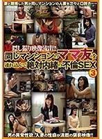 「マル秘隠し撮り映像流出!! 同じマンションのママ友を連れ込んで絶対内緒の不倫SEX 3」のパッケージ画像