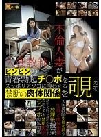 「人妻教師と不倫人妻がビンビンの青春勃起チ○ポをズッポリアソコに喰わえる禁断の肉体関係を覗く」のパッケージ画像