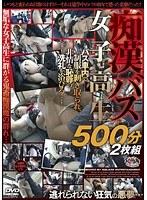 「痴漢バス女子校生500分2枚組」のパッケージ画像